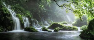 waterfall, river, brook