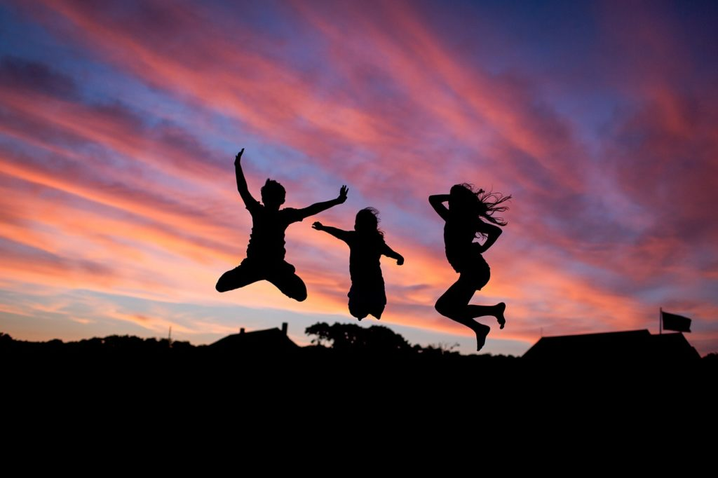 people, jumping, happiness